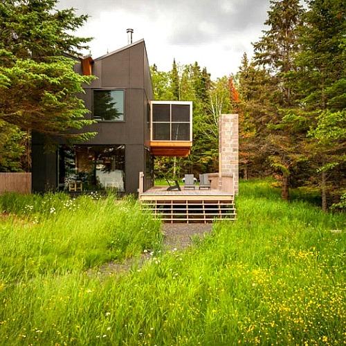 멋진 정경과 이색적인 디자인의 가족전원주택