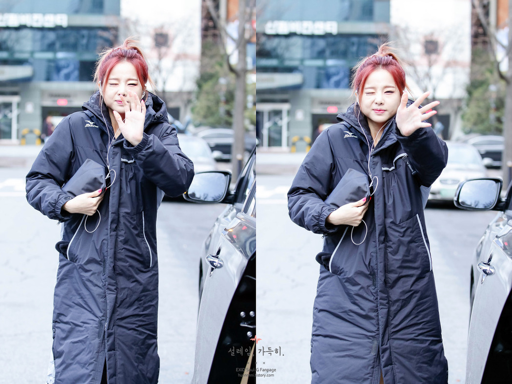 [15.12.04] 뮤직뱅크 EXID 솔지 재출근길 직찍