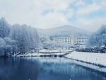 눈 내리는 날 한국외국어대학교 글로벌캠퍼스 풍경