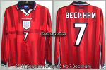 97/99 England Away L/S No.7 Beckham (SOLD OUT)