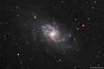 M33, 삼각형자리 은하 (Triangulum Galaxy) 또는 바람개비 은하 (Pinwheel Galaxy)