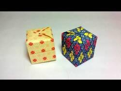 판도라상자 종이접기 동영상입니다. 15cmx15cm, 가로 세로 5등분합니다. 뚜껑이 열리지는 않습니다.