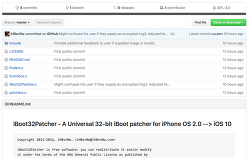 iH8sn0 iPhone OS 2.0 부터 iOS 10을 지원하는 32-비트 iBoot Patcher 배포