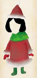 painter 페인터 2015, 메리 크리스마스 카드용으로 그리던 귀여운 산타 걸.... 이었습니다만