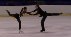 주니어 그랑프리 3차, 아이스 댄스 김레베카/키릴 미노프 ISU 퍼베로 5위