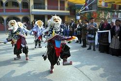 티베트 새해를 맞이한 네팔 거주 티벳인들