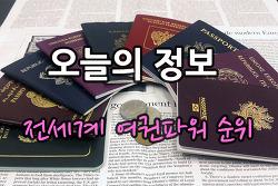 전세계 여권파워 순위 (대한민국 6위)