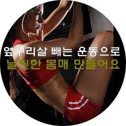 옆구리살도 빼고, 날씬한 몸매만들기 운동법(사이드플랭크 & 레그리프트)