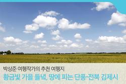 [박상준 여행작가의 추천 여행지] 황금빛가을들녘땅에피는단풍-전북김제시