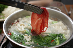 중국식 샤브샤브 해먹기 하이디라오 훠궈