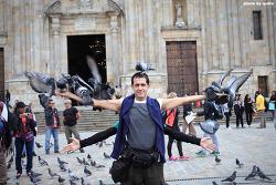 [콜롬비아 보고타 여행] 머리위의 비둘기