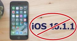 iOS 10.1.1 버전과 iOS 10.1 버전 사이닝 서버 중단, 다운그레이드 불가능