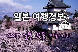 2017년 일본 벚꽃 개화시기 및 벚꽃축제 알아보기