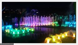부산시민공원 물놀이마당 야경