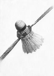 [정물소묘] 셔틀콕, 비닐노끈