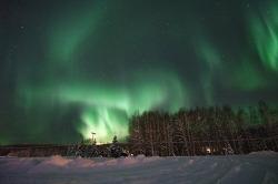 11월 [알래스카 오로라 체이스] 11월 17일, 페어뱅크스 밤 하늘에 소용돌이 치는 초록빛 오로라 향연 [알래스카 겨울 여행]