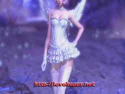 블레이드앤소울 의상 - 란제리와 드레스 조합 화이트 엔젤. 드레스 의상