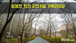 (영상) 양재천, 탄천 자전거길 가족라이딩 (2018.04.01)