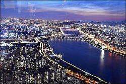 롯데 월드 타워 서울  스카이 전망대에서 본 야경