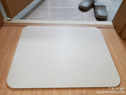 자연소재 욕실 발매트 중에 세탁이 필요없는 사라사라 규조토 발매트를 사용해 보니