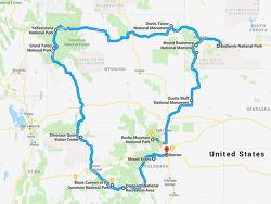 '큰바위얼굴' 러시모어(Rushmore)와 콜로라도(Colorado)/와이오밍(Wyoming)주 8박9일 자동차여행