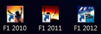 F1 2010 vs F1 2011 vs F1 2012 게임 비교