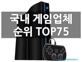 [게임업체 순위2014] 국내 게임업체순위 TOP75 (종합편) 리스트 sample