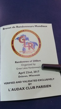 [자전거]2017 Great Lakes Randonneurs 200K(April 22, 2017)