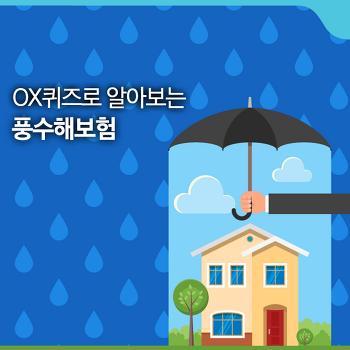 OX 퀴즈로 알아보는 풍수해보험