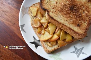 맛없는 사과를 맛있는 간식으로 냠냠~'사과조림샌드위치 만들기'