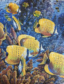 """750조각 직소퍼즐(750 Piece Zigsaw Puzzle) """"Butterfly Ballet"""" 이사 온 집 전주인의 선물인가?"""