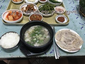 통영 맛집 암돼지국밥 맛있는 한끼 하고 왔습니다.