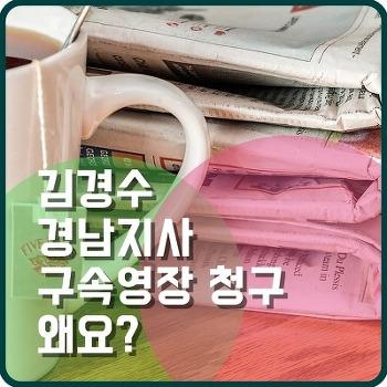 드루킹 사건 여파 김경수 경남지사 구속영장 청구 진실은 어디에