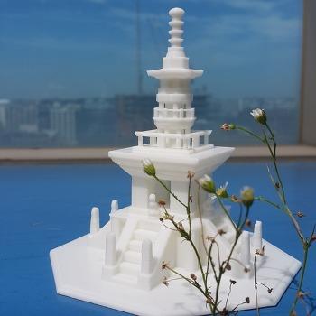 3D프린터로 문화유산인 다보탑을 출력