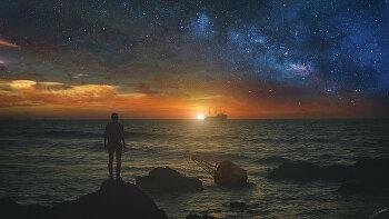 포토샵 합성 강좌 바다 일몰 (Photoshop Manipulation Tutorial Sunset at Sea)