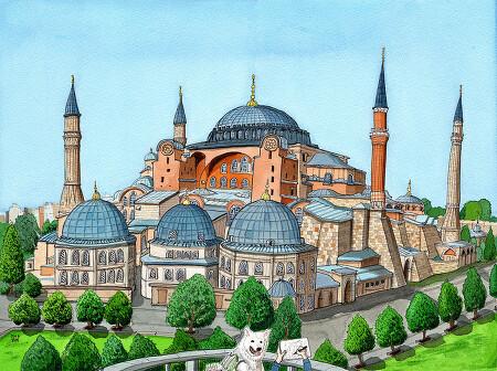 [수채화] 터키 아야 소피아 대성당