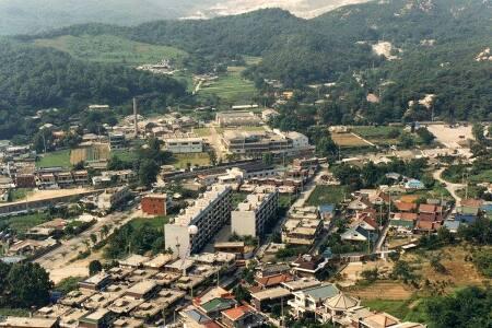 1982년 안양유원지 유유공장 주변 항공사진