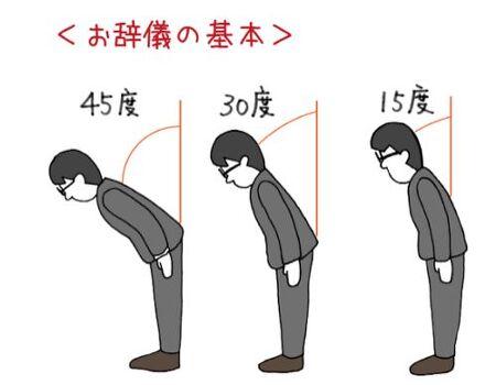 [§] [일본 비즈니스매너] お辞儀(허리를 숙여 하는 인사)의 종류와 방법