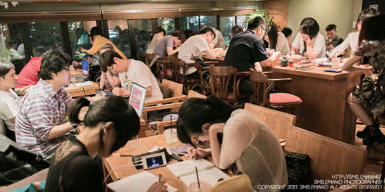 "130624 66th 9D단 낙서모임 9D.DAN ""DRAWING PARTY"" @ THE COFFEE HOUSE"
