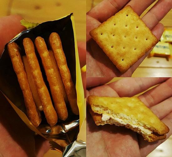 [크라운제과 과자] 크라운 과자 치즈샌드 가격 및 칼로리 : 치즈크림이 들어간 크래커 과자