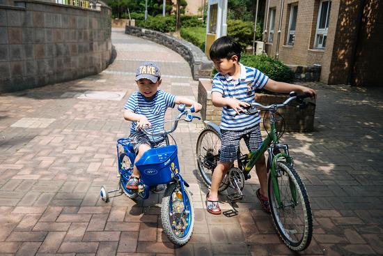 [54개월] 후니2호의 첫 자전거