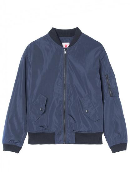 에잇세컨즈 네이비 집업 보머 재킷