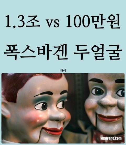 1.3조 vs 100만원 쿠폰, 폭스바겐의 두얼굴
