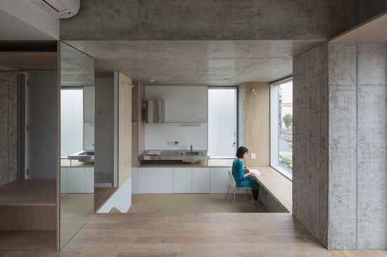 *도쿄 철근콘크리트 아파트-[ HIROYUKI ITO ARCHITECTS ] TATSUMI APARTEMENT HOUSE