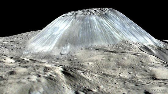 [APOD] 소행성 세레스에 있는 특이한 산, 아후나 (2017.10.9.)