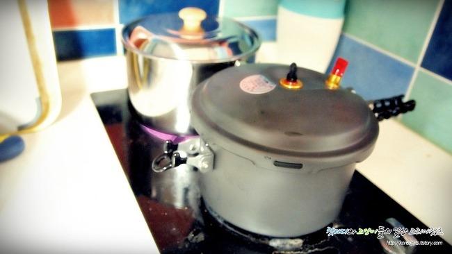 [캠핑장비]캠핑대신 집에서 스노우라인 압력밥솥 사용기