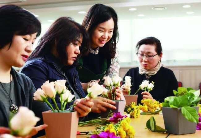 꽃 생활화 운동 프로그램