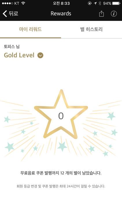 스타벅스 골드레벨(Gold Level) 달성!