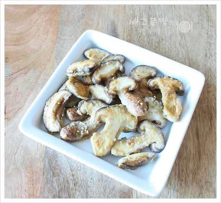 쫄깃하니 맛있는 송화버섯전