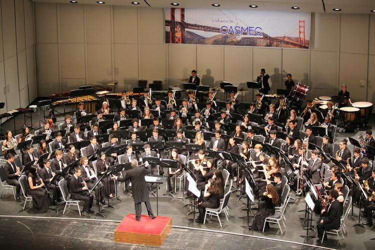 산호세(San Jose)에서 열린 캘리포니아 올스테이트 하이스쿨 심포닉밴드(Symphonic Band) 공연
